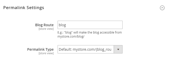 Configure Magento 2 Blog Path