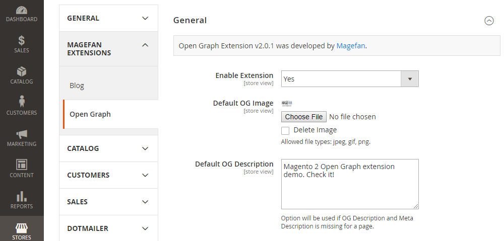 Magento 2 OG Extention,General