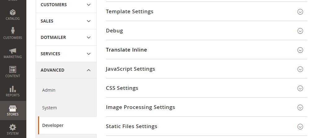 Magento 2 Developer Configuration